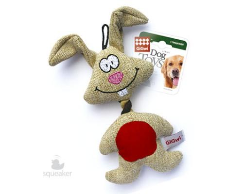 GiGwi Игрушка для собак Заяц с пищалкой
