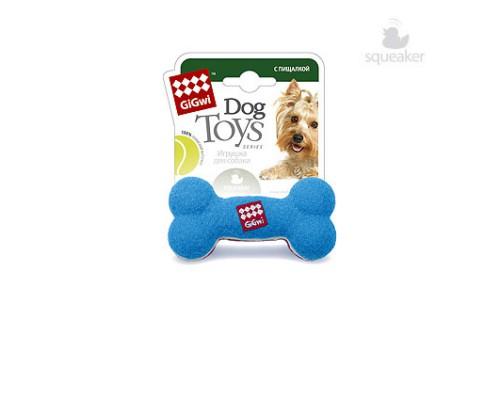 GiGwi Игрушка для собак Кость с пищалкой Малая