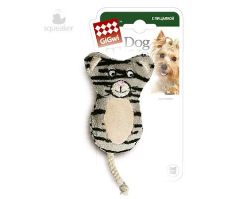 GiGwi Игрушка для собак Кот с 2-мя пищалками