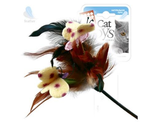 GiGwi Дразнилка для кошек с перьями на стеке