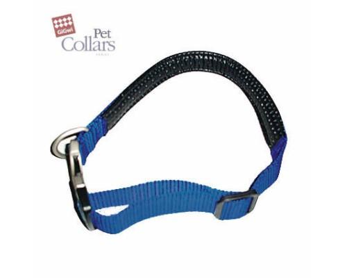 GiGwi Ошейник L Синий нейлон с мягкими вставками Для средних собак