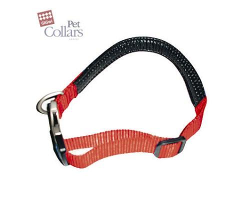 GiGwi Ошейник М Красный нейлон с мягкими вставками Для маленьких собак