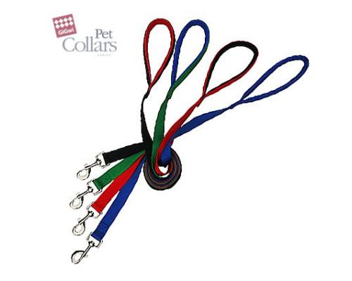 GiGwi Поводок М Красный нейлон с мягкими вставками Для средних собак