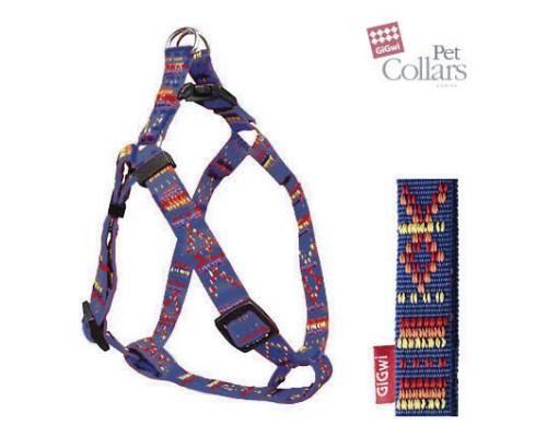 GiGwi Шлейка L Разноцветный нейлон Для средних собак