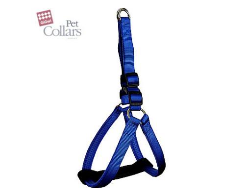 GiGwi Шлейка L Синий нейлон с мягкими вставками Для средних собак