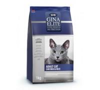 Gina ELITE CAT Корм полнорационный сухой для взрослых кошек Цыпленок с рисом (Джина ADULT CAT Chicken & Rice). Вес: 1 кг