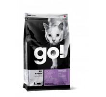 GO! Беззерновой для Котят и Кошек - 4 вида Мяса: Курица, Индейка, Утка и Лосось (GO! CARNIVORE GF Chicken, Turkey + Duck Recipe CF). Вес: 1,36 кг