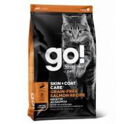 GO! Беззерновой для Котят и Кошек с Лососем (SKIN + COAT Grain Free Salmon Recipe CF). Вес: 1,36 кг