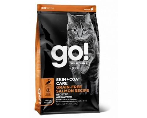 GO! Беззерновой для Котят и Кошек с Лососем (GO! SKIN + COAT Grain Free Salmon Recipe CF). Вес: 1,36 кг