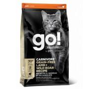 GO! Беззерновой для Котят и Кошек с Ягненком и мясом Дикого Кабана (GO! CARNIVORE GF Lamb + Wild Boar Recipe CF). Вес: 1,36 кг