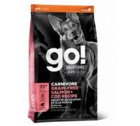 GO! Беззерновой для Собак всех возрастов c Лососем и Треской (CARNIVORE GF Salmon + Cod Recipe DF). Вес: 1,59 кг