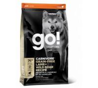 GO! Беззерновой для Собак всех возрастов c Ягненком и мясом Дикого Кабана (CARNIVORE GF Lamb + Wild Boar Recipe DF). Вес: 1,59 кг