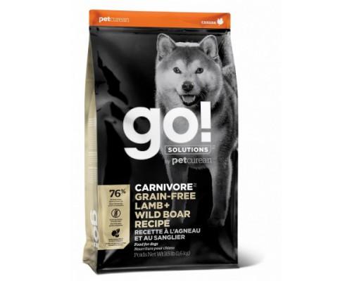 GO! Беззерновой для Собак всех возрастов c Ягненком и мясом Дикого Кабана (GO! CARNIVORE GF Lamb + Wild Boar Recipe DF). Вес: 1,59 кг