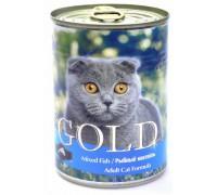 """NERO GOLD Консервы для кошек """"Рыбный коктейль"""" (Mixed Fish). Вес: 410 г"""