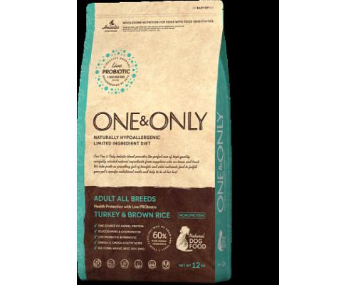ONE&ONLY сухой корм Индейка с рисом для взрослых собак всех пород (Turkey & Rice Adult All Breeds). Вес: 1 кг