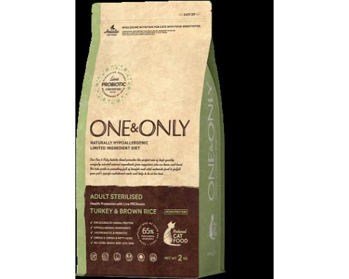 ONE&ONLY сухой корм Индейка с рисом для стерилизованных кошек (Turkey & Rice Adult STERILISED). Вес: 400 г