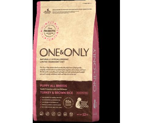 ONE&ONLY сухой корм Индейка с рисом для щенков всех пород (Turkey & Rice PUPPY All Breeds). Вес: 1 кг