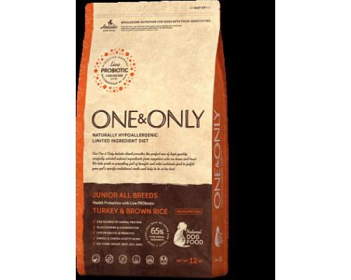 ONE&ONLY сухой корм Индейка с рисом для юниоров всех пород (Turkey & Rice JUNIOR All Breeds). Вес: 1 кг