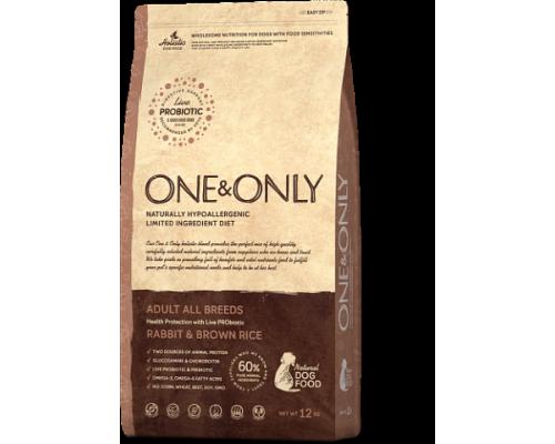 ONE&ONLY сухой корм Кролик с рисом для взрослых собак всех пород (Rabbit & Rice Adult All Breeds). Вес: 1 кг