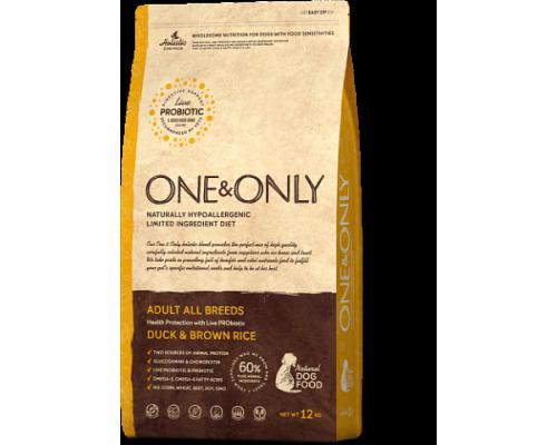 ONE&ONLY сухой корм Утка с рисом для взрослых собак всех пород (Duck & Rice Adult All Breeds). Вес: 1 кг