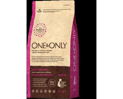 ONE&ONLY сухой корм Утка с рисом для домашних кошек (Duck & Rice Adult INDOOR). Вес: 400 г