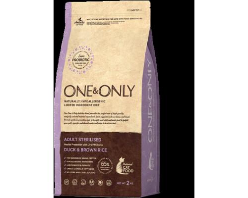 ONE&ONLY сухой корм Утка с рисом для стерилизованных кошек (Duck & Rice Adult STERILIZED). Вес: 400 г