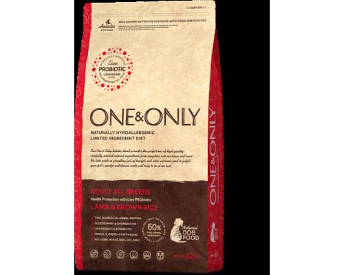ONE&ONLY сухой корм Ягненок с рисом для взрослых собак всех пород (Lamb & Rice Adult All Breeds). Вес: 1 кг