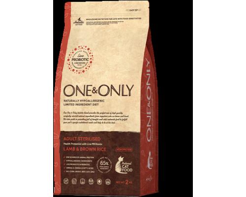 ONE&ONLY сухой корм Ягненок с рисом для стерилизованных кошек (Lamb & Rice Adult STERILIZED). Вес: 400 г