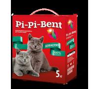 Pi-Pi-Bent для котят натуральный комкующийся наполнитель, изготовленный из бентонитовой глины мелкой фракции 5 кг