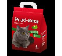 Pi-Pi-Bent Сенсация свежести натуральный комкующийся наполнитель с нежным ароматом свежих трав и цветов 5 кг
