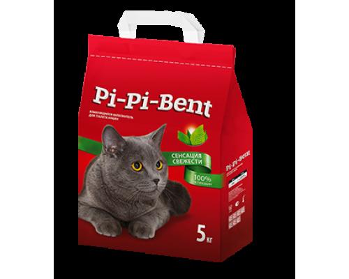 Pi-Pi-Bent комкующийся наполнитель Сенсация свежести 5 кг