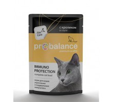 ProBalance ADULT Immuno Protection корм консервированный для кошек с кроликом в соусе. Защита и поддержание иммунитета (пауч). Вес: 85 г