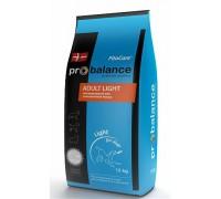 ProBalance Adult Light Корм сухой для взрослых собак с нормальной активностью. Вес: 15 кг