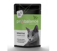 ProBalance Sensitive корм консервированный для кошек c чувствительным пищеварением (Пауч). Вес: 85 г