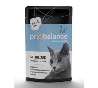 ProBalance Sterilized корм консервированный для кастрированных котов и стерилизованных кошек. Пауч 85 г