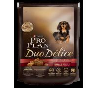Pro Plan Duo Delice Small & Mini Лосось с рисом для взрослых собак мелких и карликовых пород Про План Делис. Вес: 700 г
