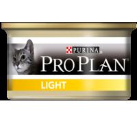 Pro Plan Light консервы для взрослых кошек низкокалорийный индейка (Про План). Вес: 85 г