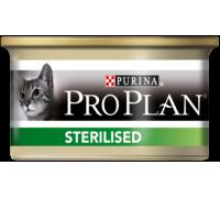 Pro Plan Sterilised консервы для взрослых кошек кастрированных / стерилизованных тунец и лосось (Про План). Вес: 85 г