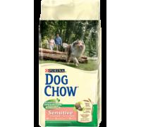 PURINA DOG CHOW® Дог Чау Корм для собак с чувствительным пищеварением лосось и рис