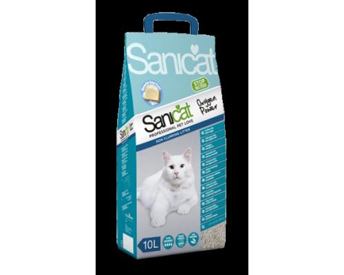 Sanicat Комкующийся антибактериальный наполнитель с активным кислородом с ароматом марсельского мыла (Oxygen Power Clumping 10L) 10 л