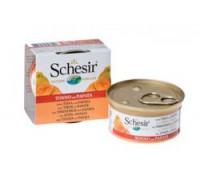 Schesir консервы для кошек Тунец/папайя. Вес: 75 г