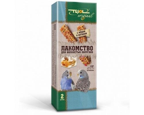 TRIOL Original Лакомство для волнистых попугаев с мёдом и хитином (Триол): 2 шт
