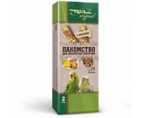 TRIOL Original Лакомство для волнистых попугаев с фруктами (Триол): 2 шт