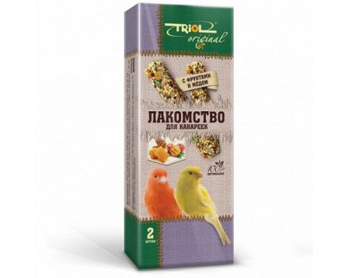 TRIOL Original Лакомство для канареек с фруктами и мёдом (Триол): 2 шт