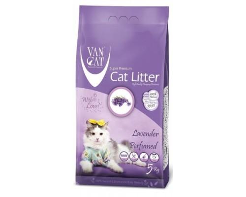 Van Cat комкующийся наполнитель без пыли с ароматом Лаванды (Lavender). Вес: 5 кг