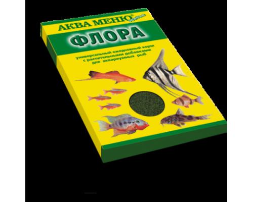 """Аква Меню """"Флора"""" корм для рыб (хлопья). Вес: 30 г"""