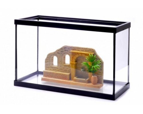 Аквариум с декором, 30х15х20 см (Lot promo fishtank + decoration)