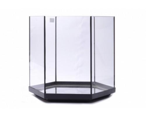 Аквариум шестиугольный, 34х31х3 см (Glass fish tank hexa 1)