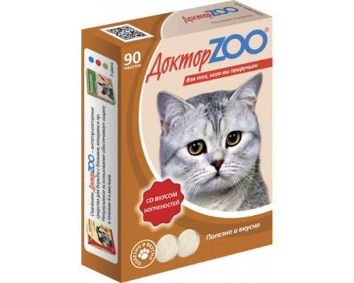 Доктор ZOO витамины для кошек со вкусом Копченостей 90 таб