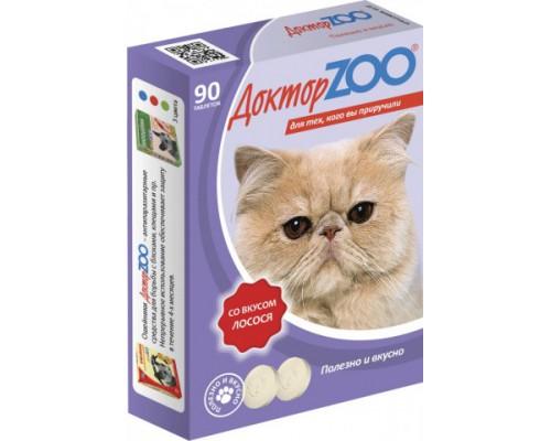 Доктор ZOO витамины для кошек со вкусом Лосося 90 таб